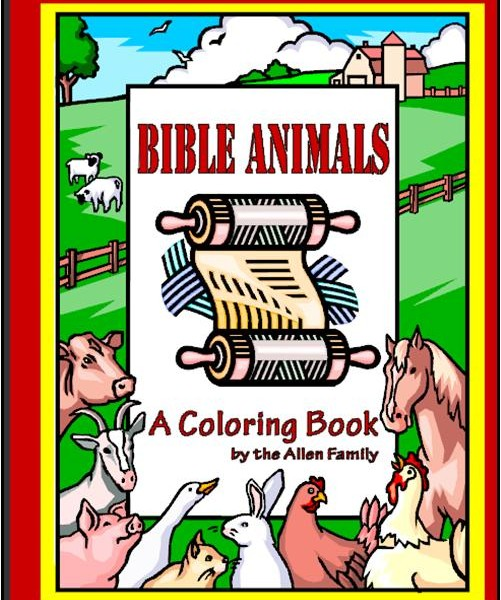 bible animals coloring book