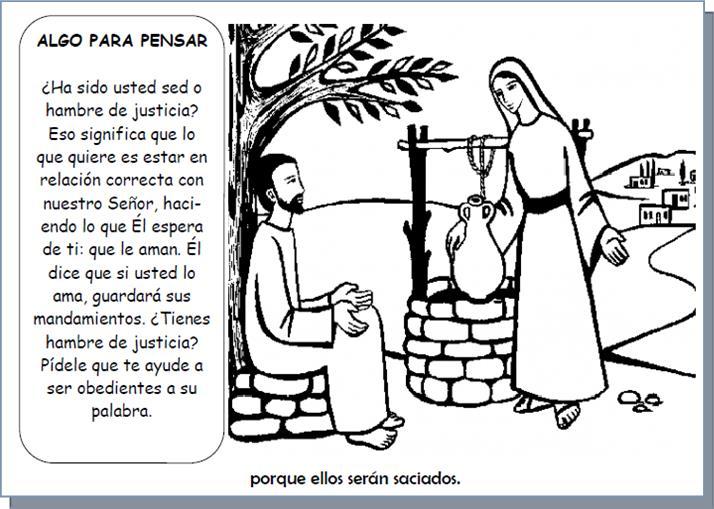Las Bienaventuranzas libro para colorear español mesiánico
